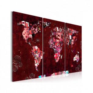 Tablou Ruby World 120 cm x...