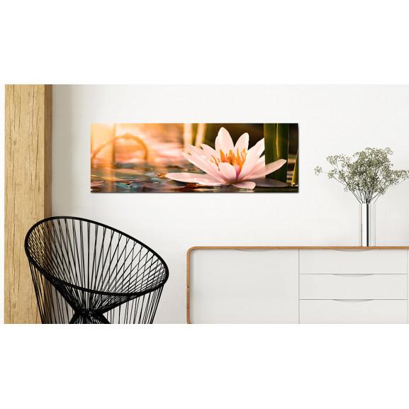 Tablou Beautiful Lotus 135 cm x 45 cm naturlich.ro