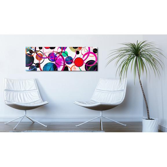 Tablou Colourful Circle 135 cm x 45 cm naturlich.ro