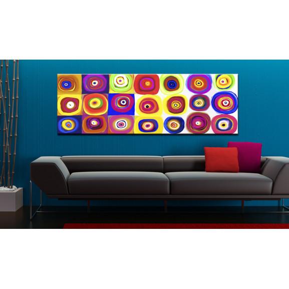 Tablou Colourful Carousel 135 cm x 45 cm naturlich.ro