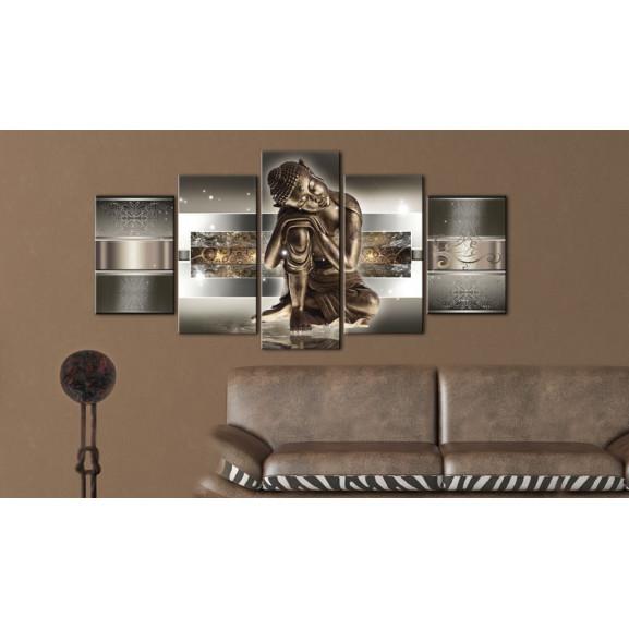 Tablou Sleeping Buddha 100 cm x 50 cm naturlich.ro