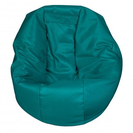 Fotoliu Bean Bag, Interior-Exterior, Tip Puf Rotund Mic Petrol-01