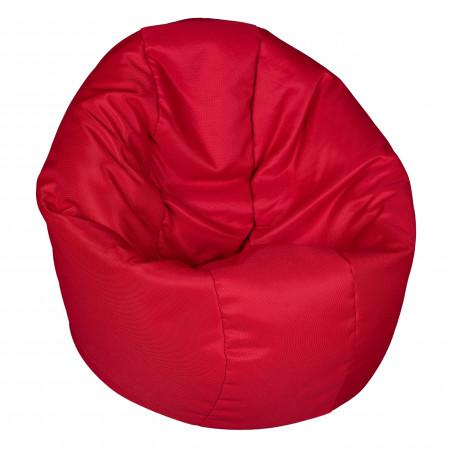 Fotoliu Bean Bag, Interior-Exterior, Tip Puf Rotund Mare Rosu-01