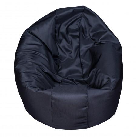 Fotoliu Bean Bag, Interior-Exterior, Tip Puf Rotund Mare Negru-01