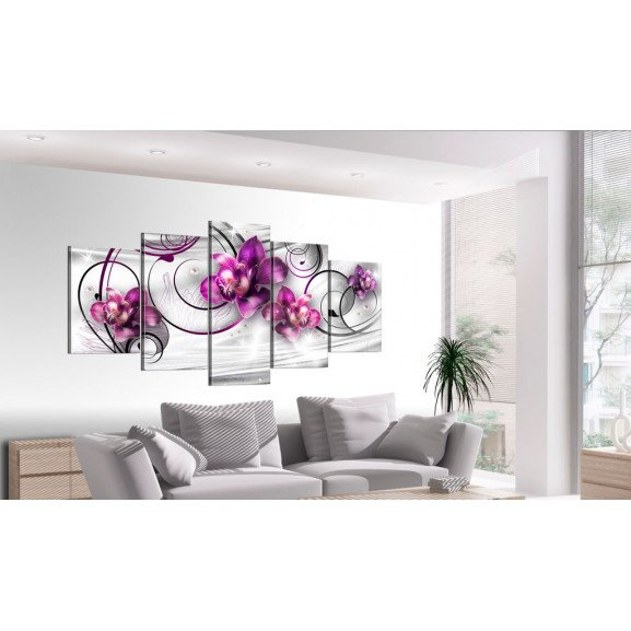 Tablou Orchids And Pearls 100 cm x 50 cm naturlich.ro
