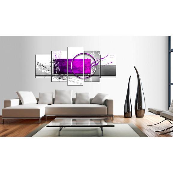 Tablou Purple Expression 100 cm x 50 cm naturlich.ro