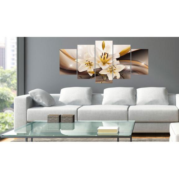 Tablou Shiny Lily 100 cm x 50 cm naturlich.ro