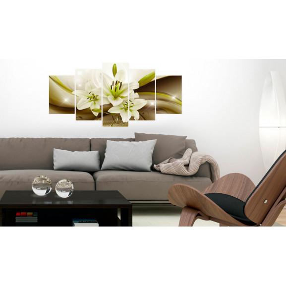 Tablou Modern Liliy 100 cm x 50 cm naturlich.ro