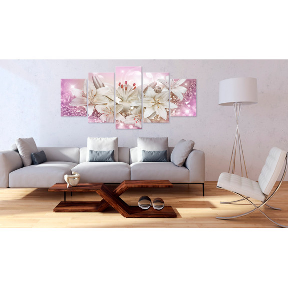 Tablou Pink Courtship 100 cm x 50 cm naturlich.ro