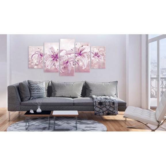 Tablou Purple Harmony 100 cm x 50 cm naturlich.ro