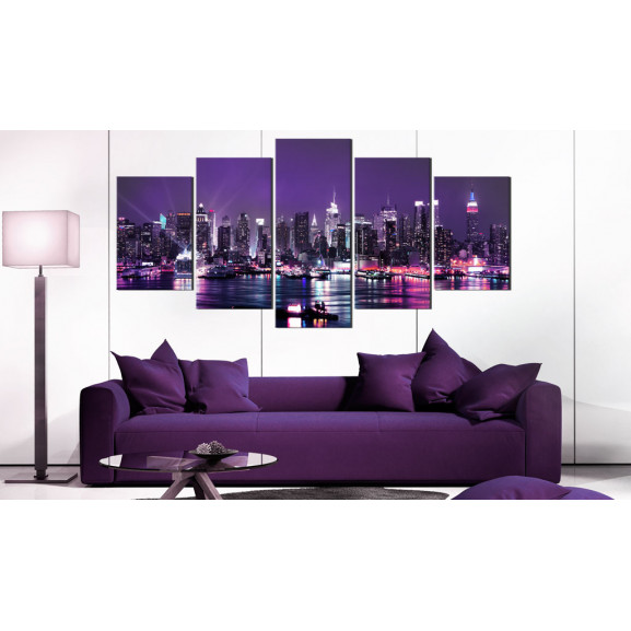 Tablou Purple Sky 100 cm x 50 cm naturlich.ro