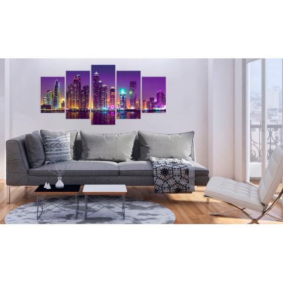 Tablou Purple Nights 100 cm x 50 cm naturlich.ro