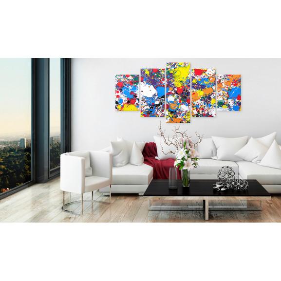 Tablou Colourful Imagination 100 cm x 50 cm naturlich.ro