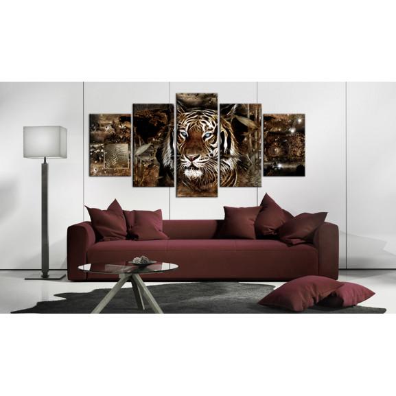 Tablou Guard Of The Jungle 100 cm x 50 cm naturlich.ro