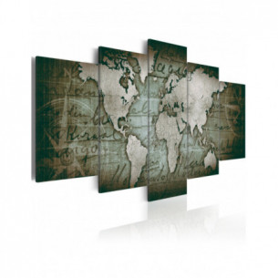 Tablou Emerald Map 100 cm x...