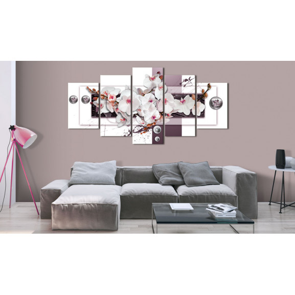 Tablou Orchid'S Mechanism 100 cm x 50 cm naturlich.ro
