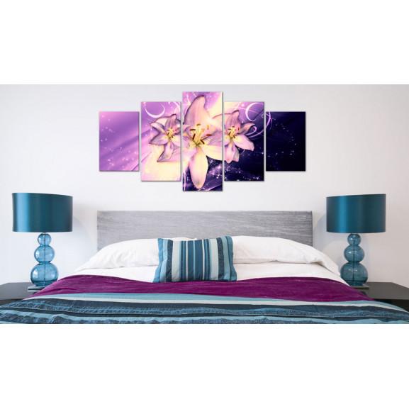 Tablou Purple Galaxy 100 cm x 50 cm naturlich.ro