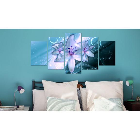 Tablou Sapphire Nights 100 cm x 50 cm naturlich.ro