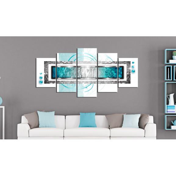 Tablou Turquoise Blizzard 100 cm x 50 cm naturlich.ro