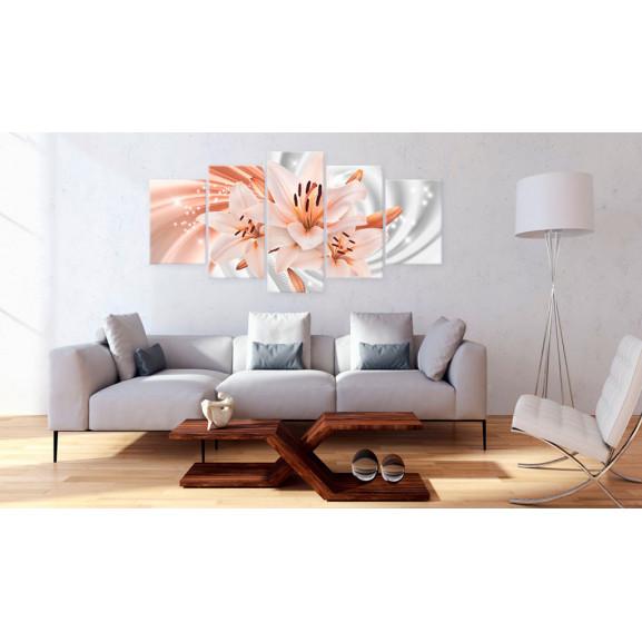 Tablou Coral Lilies 100 cm x 50 cm naturlich.ro