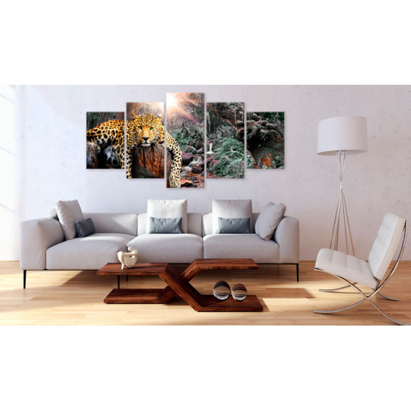 Tablou Leopard Relaxation 100 cm x 50 cm naturlich.ro