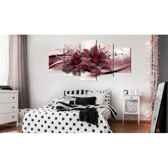 Tablou Pink Lily 100 cm x 50 cm naturlich.ro