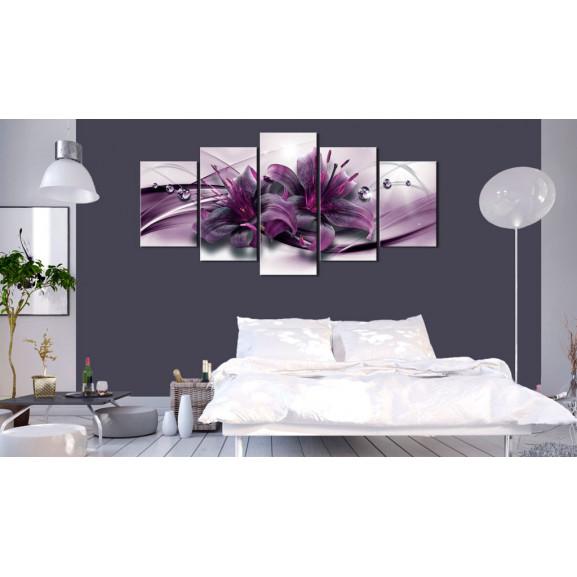 Tablou Violet Lily 100 cm x 50 cm naturlich.ro