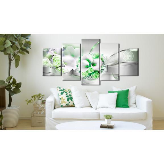 Tablou Emerald Bouquet 100 cm x 50 cm naturlich.ro