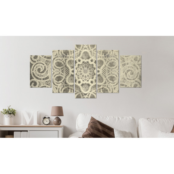 Tablou Mandala Of Soul 100 cm x 50 cm naturlich.ro