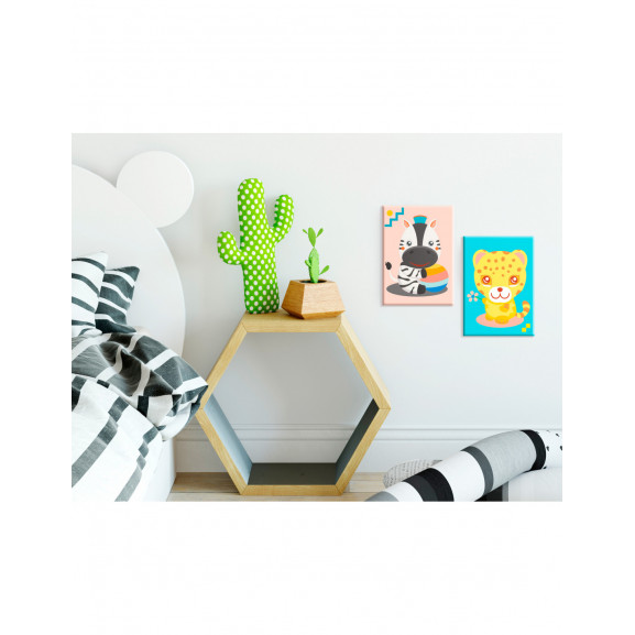 Pictatul Pentru Recreere Zebra & Leopard 33 cm x 23 cm naturlich.ro