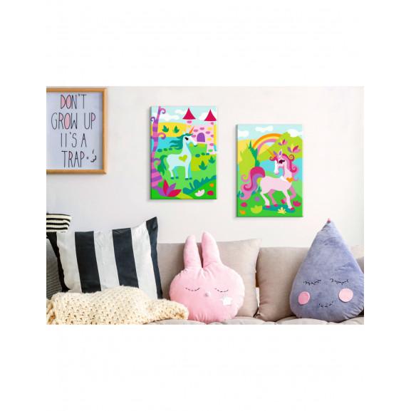 Pictatul Pentru Recreere Fairytale Unicorns 33 cm x 23 cm naturlich.ro