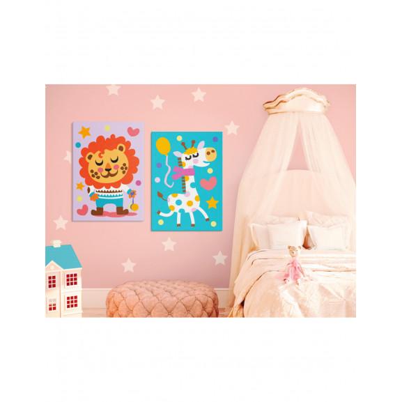 Pictatul Pentru Recreere Lion & Giraffe 33 cm x 23 cm naturlich.ro