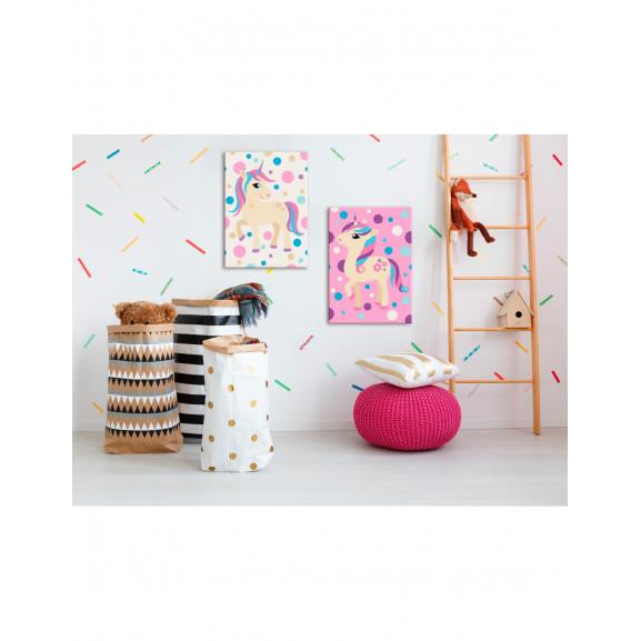 Pictatul Pentru Recreere Unicorns (Pastel Colours) 33 cm x 23 cm naturlich.ro