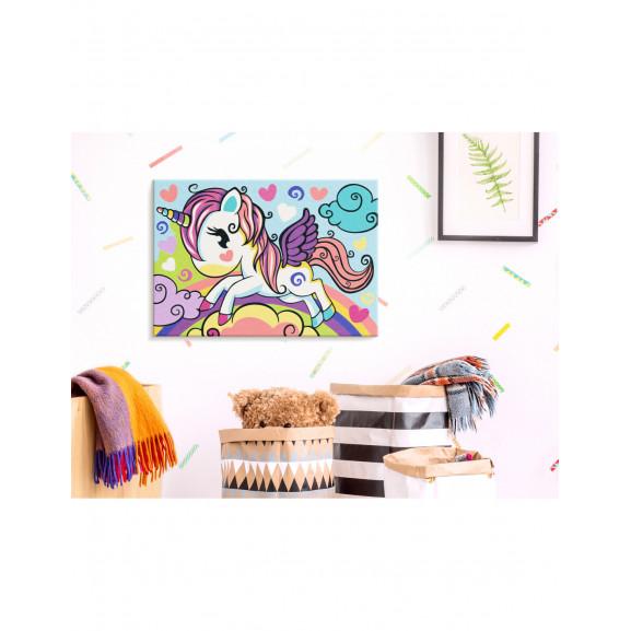 Pictatul Pentru Recreere Colourful Unicorn 33 cm x 23 cm naturlich.ro