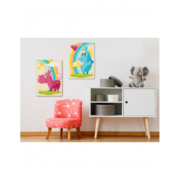 Pictatul Pentru Recreere Sweet Unicorns 33 cm x 23 cm naturlich.ro