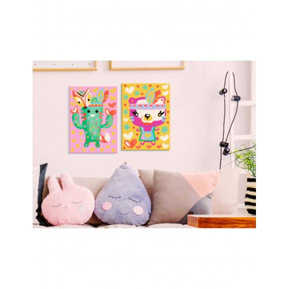 Pictatul Pentru Recreere Cactus & Bear 33 cm x 23 cm naturlich.ro