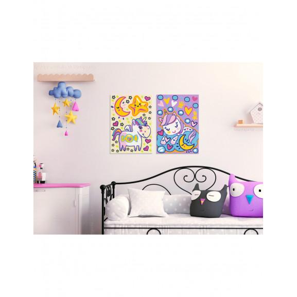 Pictatul Pentru Recreere Unicorns (Good Morning & Good Night) 33 cm x 23 cm naturlich.ro