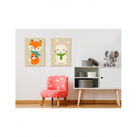 Pictatul Pentru Recreere Fox & Bunny 33 cm x 23 cm naturlich.ro
