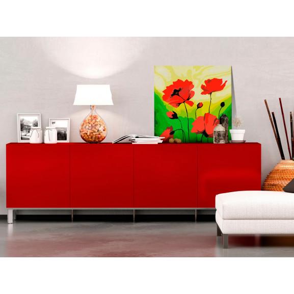 Pictatul Pentru Recreere Poppies 45 cm x 45 cm naturlich.ro