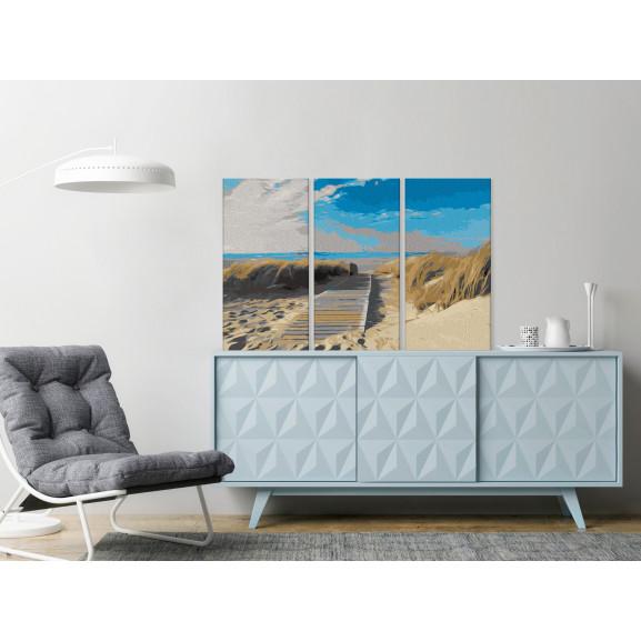 Pictatul Pentru Recreere Beach (Blue Sky) 60 cm x 40 cm naturlich.ro