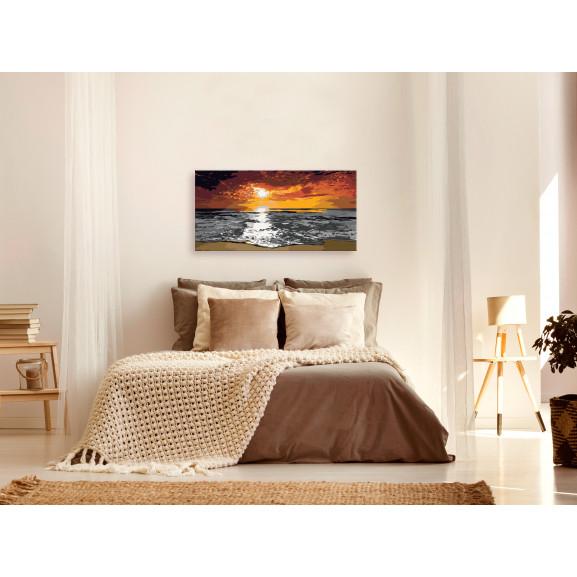 Pictatul Pentru Recreere Sea (Sky In Flames) 80 cm x 40 cm naturlich.ro