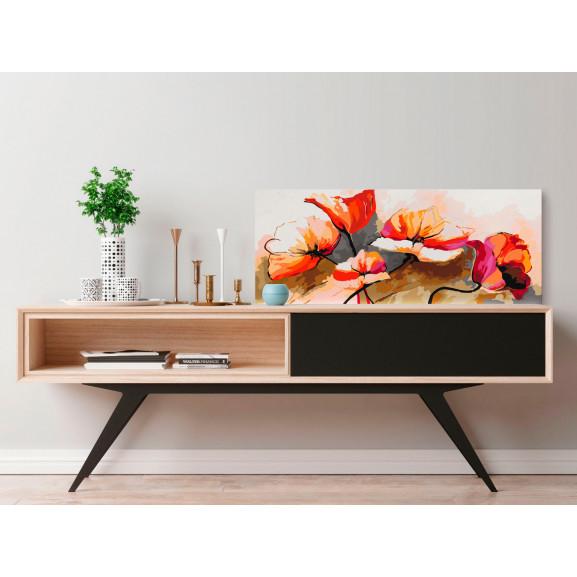 Pictatul Pentru Recreere Flowers Delicate Poppies 100 cm x 40 cm naturlich.ro