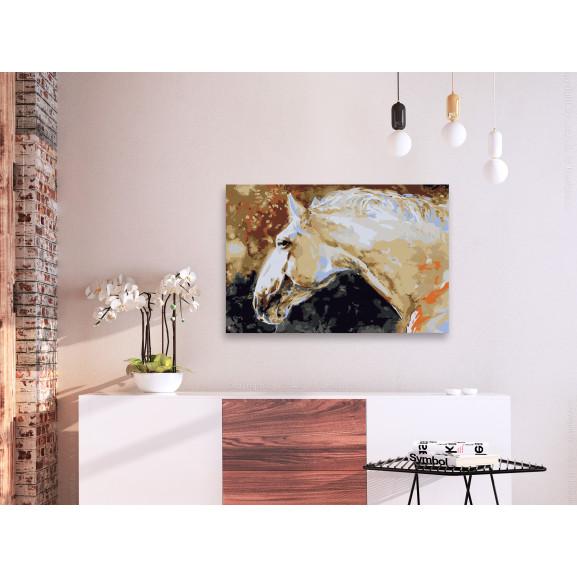 Pictatul Pentru Recreere White Horse 60 cm x 40 cm naturlich.ro