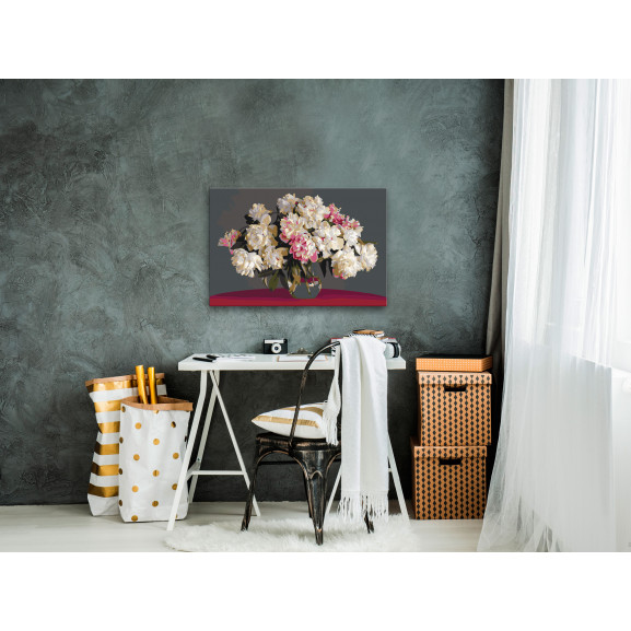 Pictatul Pentru Recreere White Flowers In A Vase 60 cm x 40 cm naturlich.ro