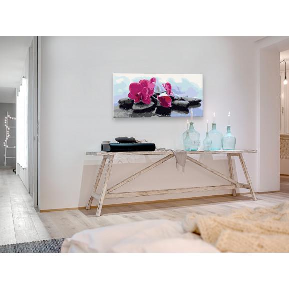 Pictatul Pentru Recreere Orchid With Zen Stones 80 cm x 40 cm naturlich.ro