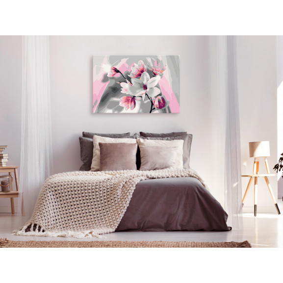 Pictatul Pentru Recreere Magnolia (Grey Background) 60 cm x 40 cm naturlich.ro
