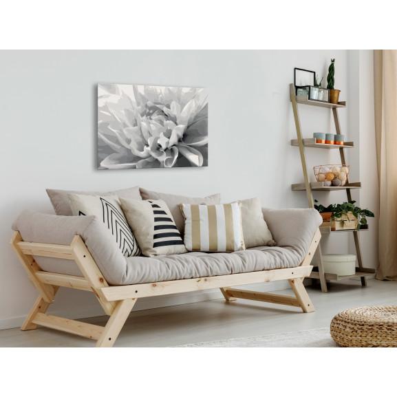Pictatul Pentru Recreere Black & White Flower 60 cm x 40 cm naturlich.ro