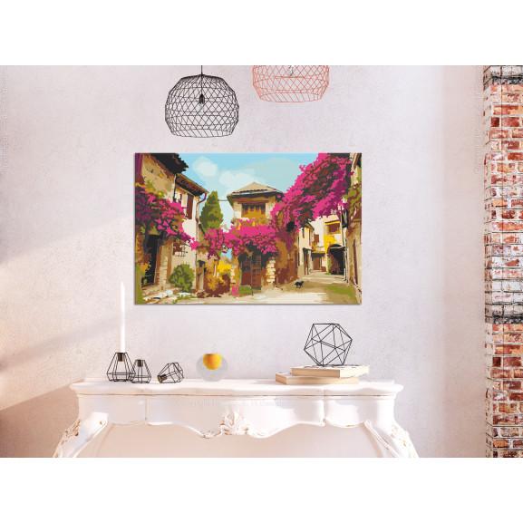 Pictatul Pentru Recreere Mediterranean Town 60 cm x 40 cm naturlich.ro