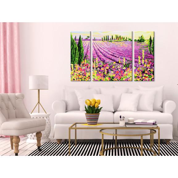 Pictatul Pentru Recreere Lavender Field 80 cm x 50 cm naturlich.ro