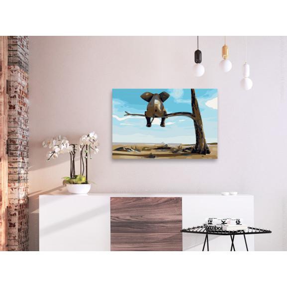 Pictatul Pentru Recreere Elephant In A Tree 60 cm x 40 cm naturlich.ro
